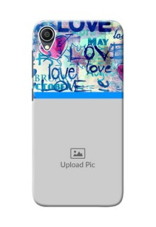 Zenfone Lite L1 Mobile Covers Online: Colorful Love Design