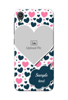 Zenfone Lite L1 Mobile Covers Online: Pink & Blue Heart Design