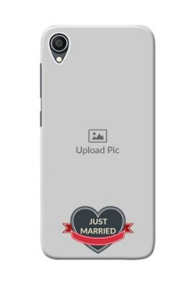 Zenfone Lite L1 mobile back covers online: Just Married Couple Design