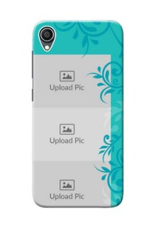 Zenfone Lite L1 Mobile Cases with Photo and Green Floral Design