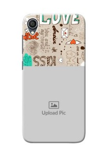 Zenfone Lite L1 Personalised mobile covers: Love Doodle Pattern