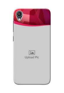 Zenfone Live L1 custom mobile back covers: Red Abstract Design