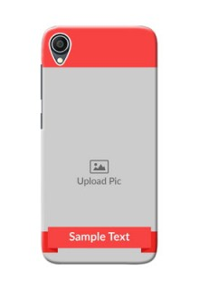 Zenfone Live L1 Personalised mobile covers: Simple Red Color Design