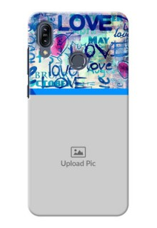 Asus Zenfone Max M2 Mobile Covers Online: Colorful Love Design