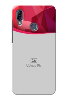 Asus Zenfone Max M2 custom mobile back covers: Red Abstract Design