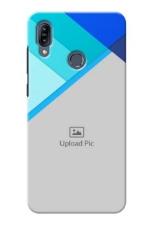 Asus Zenfone Max M2 Phone Cases Online: Blue Abstract Cover Design