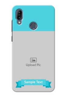 Asus Zenfone Max M2 Personalized Mobile Covers: Simple Blue Color Design
