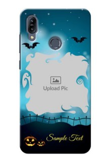 Asus Zenfone Max M2 Personalised Phone Cases: Halloween frame design