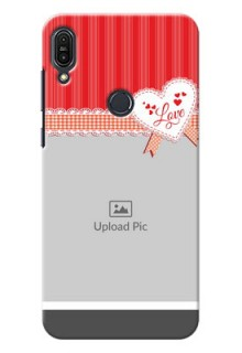 Asus Zenfone Max Pro M1 Red Pattern Mobile Cover Design