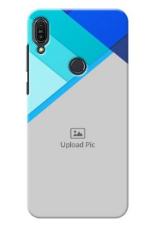 Asus Zenfone Max Pro M1 Blue Abstract Mobile Cover Design