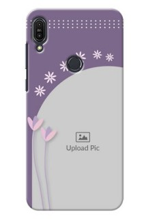 Asus Zenfone Max Pro M1 lavender background with flower sprinkles Design