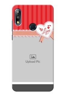Zenfone Max Pro M2 phone cases online: Red Love Pattern Design