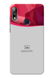 Zenfone Max Pro M2 custom mobile back covers: Red Abstract Design
