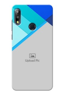 Zenfone Max Pro M2 Phone Cases Online: Blue Abstract Cover Design