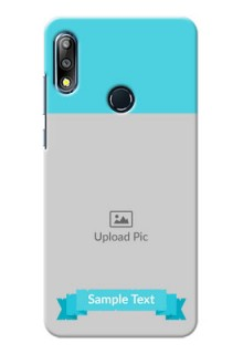 Zenfone Max Pro M2 Personalized Mobile Covers: Simple Blue Color Design