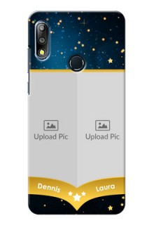 Zenfone Max Pro M2 Mobile Covers Online: Galaxy Stars Backdrop Design