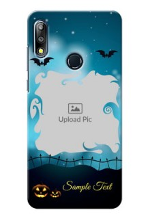 Zenfone Max Pro M2 Personalised Phone Cases: Halloween frame design