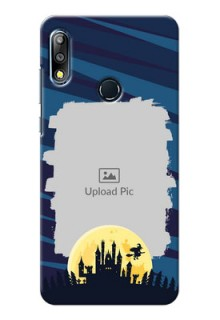 Zenfone Max Pro M2 Back Covers: Halloween Witch Design
