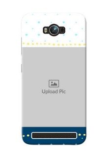 Asus ZenFone Max ZC550KL White And Blue Abstract Mobile Case Design