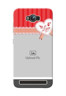 Asus ZenFone Max ZC550KL Red Pattern Mobile Cover Design