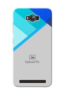 Asus ZenFone Max ZC550KL Blue Abstract Mobile Cover Design