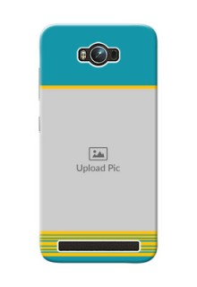 Asus ZenFone Max ZC550KL Yellow And Blue Pattern Mobile Case Design