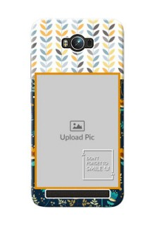 Asus ZenFone Max ZC550KL seamless and floral pattern design with smile quote Design