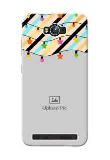 Asus ZenFone Max ZC550KL diagonal stripped pattern with hanging lights Design