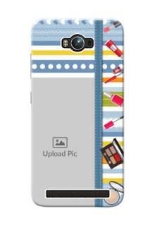 Asus ZenFone Max ZC550KL hand drawn backdrop with makeup icons Design
