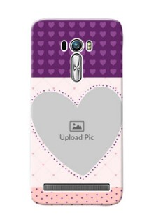 Asus ZenFone Selfie ZD551KL Violet Dots Love Shape Mobile Cover Design