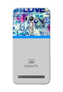Asus ZenFone Selfie ZD551KL Colourful Love Patterns Mobile Case Design