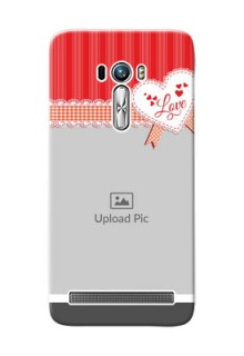 Asus ZenFone Selfie ZD551KL Red Pattern Mobile Cover Design