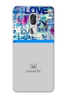 Coolpad Cool 1 Dual Colourful Love Patterns Mobile Case Design