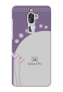 Coolpad Cool 1 Dual lavender background with flower sprinkles Design Design