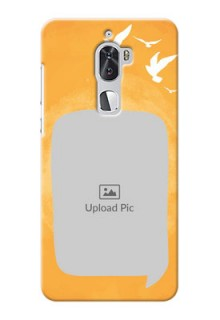 Coolpad Cool 1 Dual watercolour design with bird icons and sample text Design Design