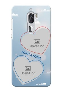 Coolpad Cool 1 Dual couple heart frames with sky backdrop Design
