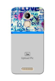 Coolpad Note 3 Lite Colourful Love Patterns Mobile Case Design