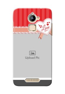 Coolpad Note 3 Lite Red Pattern Mobile Cover Design