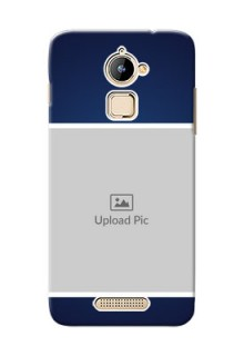 Coolpad Note 3 Lite Simple Blue Colour Mobile Cover Design