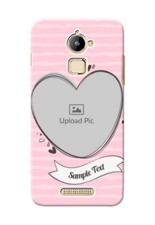 Coolpad Note 3 Lite seamless stripes with vintage heart shape Design
