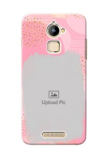 Coolpad Note 3 Lite splashes backdrop with gold glitter sprinkles Design