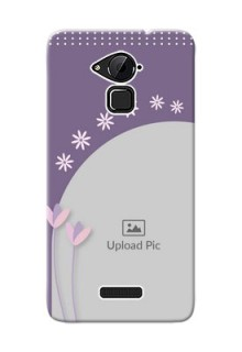 Coolpad Note 3 Plus lavender background with flower sprinkles Design Design