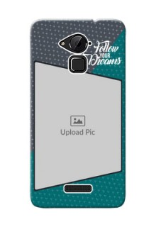 Coolpad Note 3 Plus 2 colour background with different patterns and dreams quote Design Design