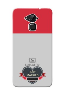 Coolpad Note 3 Just Married Mobile Cover Design