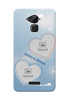 Coolpad Note 3 couple heart frames with sky backdrop Design