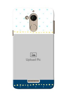 Coolpad Note 5 White And Blue Abstract Mobile Case Design