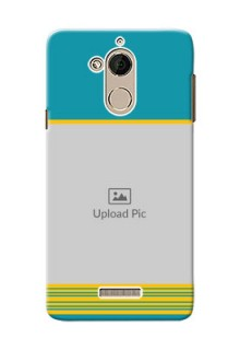 Coolpad Note 5 Yellow And Blue Pattern Mobile Case Design