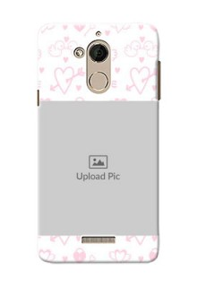 Coolpad Note 5 Flying Hearts Mobile Back Cover Design