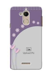 Coolpad Note 5 lavender background with flower sprinkles Design
