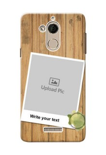 Coolpad Note 5 3 image holder with wooden texture  Design